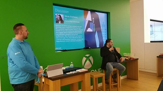 Steve speaks about entrepreneurship and neurodiversity at the Coast Mesa Microsoft Store